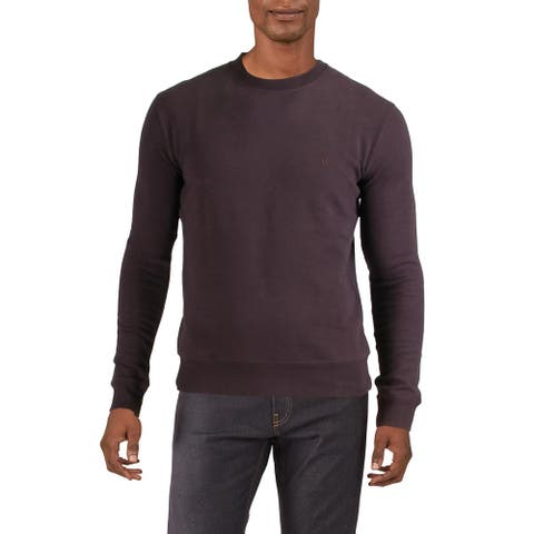 French Connection Mens Sunday Crew Sweatshirt Fleece Lined Comfy