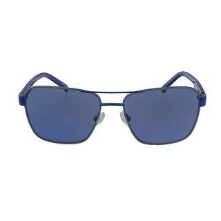 Lacoste L3105S 467 Azure Blue Aviator Sunglasses