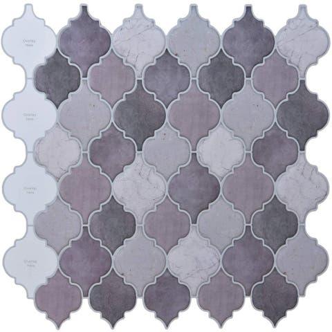"""Art3d 12""""×12"""" Vinyl Peel and Stick Backsplash Tile Gray Lantern (10-Pack)"""