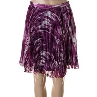 Catherine Malandrino Womens Chiffon Pleated A-Line Skirt - 4