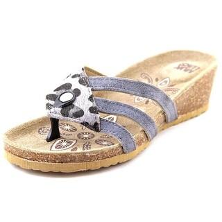 Muk Luks 16149 Women Open Toe Suede Wedge Sandal
