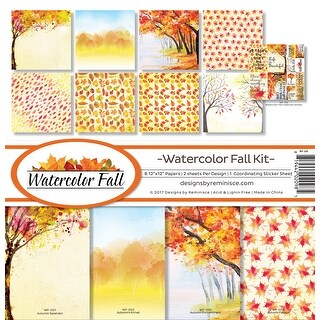 "Reminisce Collection Kit 12""X12""-Watercolor Fall"