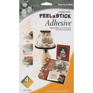 "Peel n Stick Adhesive Sheets-5.5""X8.75"" 4/Pkg"