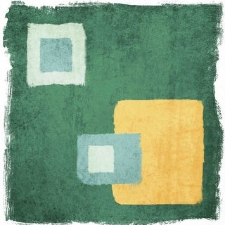 Marmont Hill Green and Yellow Irena Orlov Painting Print on Canvas
