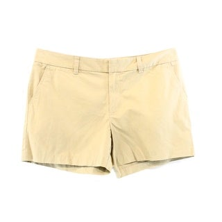 Tommy Hilfiger NEW Beige Women's Size 8 Flat Front Classic Chino Shorts