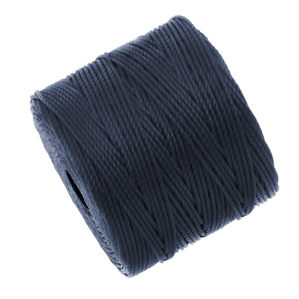 BeadSmith Super-Lon (S-Lon) Cord - Size 18 Twisted Nylon - Navy Blue (77 Yard Spool)