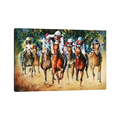 "iCanvas ""Horse Race"" by Leonid Afremov Canvas Print"