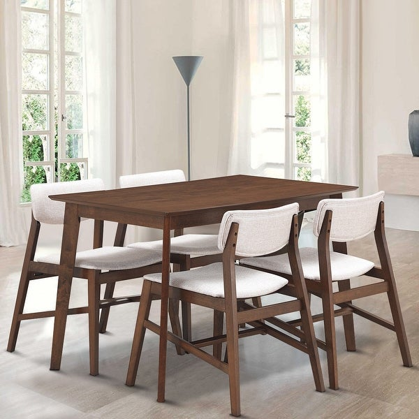 Shop Gymax 5 PCS Mid Century Modern Dining Table Set