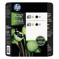 HP 61XL Black High Yield Ink Cartridge Twin, 2/PK C2P81BN