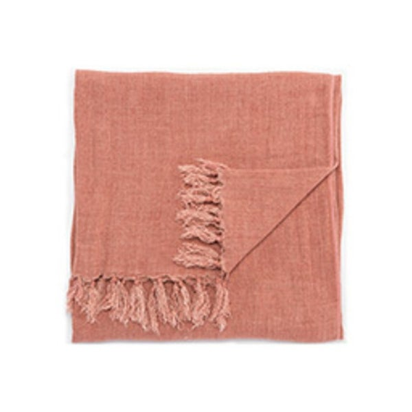 "Red Linen Throw - MAU01 51""x67"""