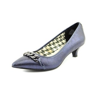 Anne Klein Mikaela Women Pointed Toe Leather Blue Heels