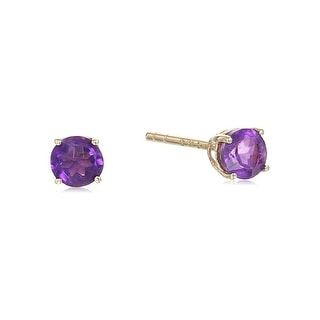 Link to 14KT Gold African Amethyst Stud Earring Similar Items in Earrings