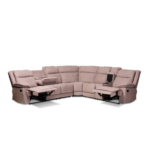 Fabulous Shop Sabella 7Pcs Light Brown Fabric Fabric 7 Piece Machost Co Dining Chair Design Ideas Machostcouk