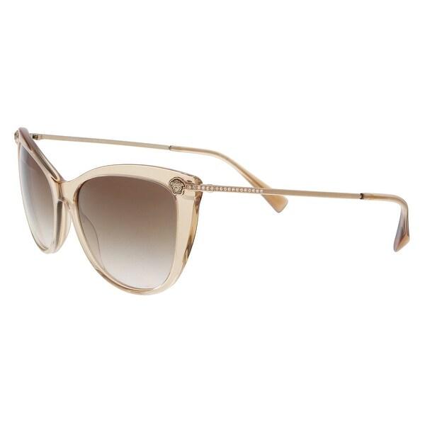 d7a2a0c243 Versace VE4345B 521513 Transparent light brown Cat Eye Sunglasses - 57-17- 140