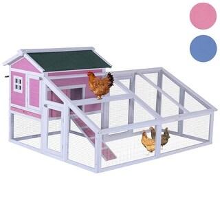 "Lovupet Wood-plastic 70"" Chicken Coop Hen House Rabbit Hutch Backyard Cage w/ Nest Box"