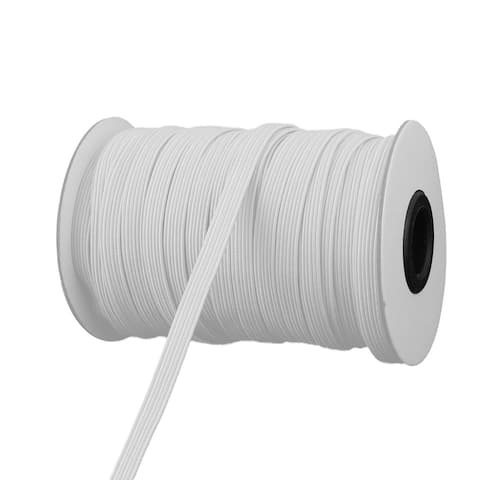 """Sewing Tool Stretchy Elastic Band Spool Rope 29.5 Yards x 0.2 Inch - White/Gray - 0.2"""" Width"""