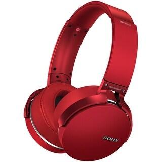 Sony XB950B1 EXTRA BASS Bluetooth Headphones (Red)