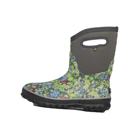 Bogs Outdoor Boots Womens Classic Mid Night Garden Gray Multi