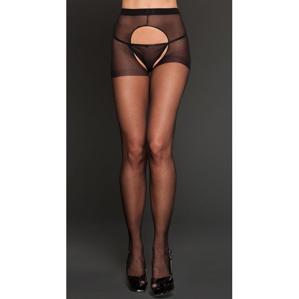 4f473cca383 Shop Sheer Spandex Crotchless Pantyhose - Free Shipping On Orders Over  45  - Overstock - 18009366