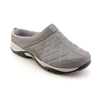 Easy Spirit Active EZ Time Women W Round Toe Canvas Gray Mules