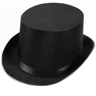Black Satin Top Adult Costume Hat