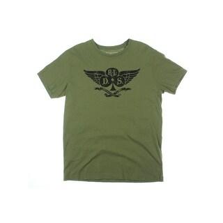Denim & Supply Ralph Lauren Mens Graphic T-Shirt Camouflage Print Scoop Neck - S