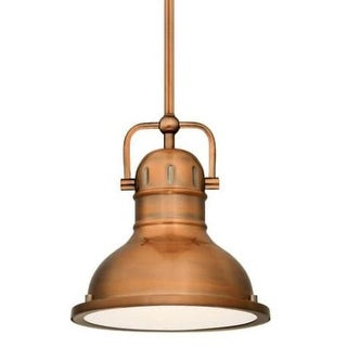 """Westinghouse 63086B Boswell 11"""" Wide Single Light LED Pendant with Metal Shade"""