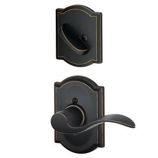 Schlage F59-ACC-CAM-LH  Accent Left Handed Single Cylinder Interior Pack with Decorative Camelot Trim - Exterior Handleset Sold