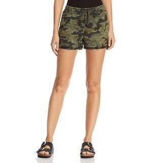 DL1961 Womens Beach 86TH Casual Shorts Camouflage Frayed Hem