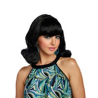 Decades Flip Adult Costume Wig - Black