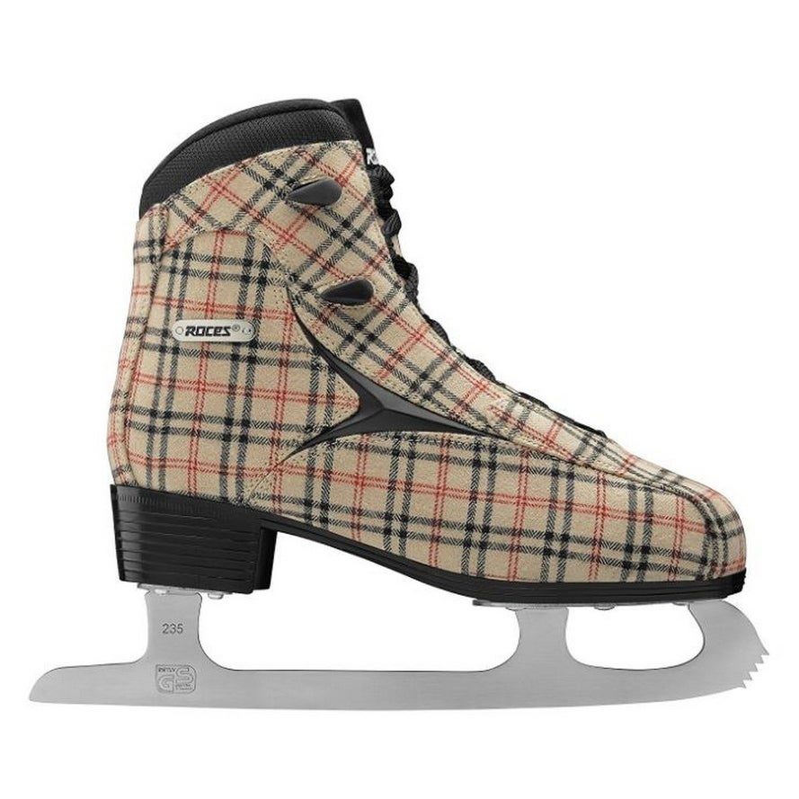 Roces Womens Brits Figure Ice Skate Superior Italian Sand Plaid 450557 00010