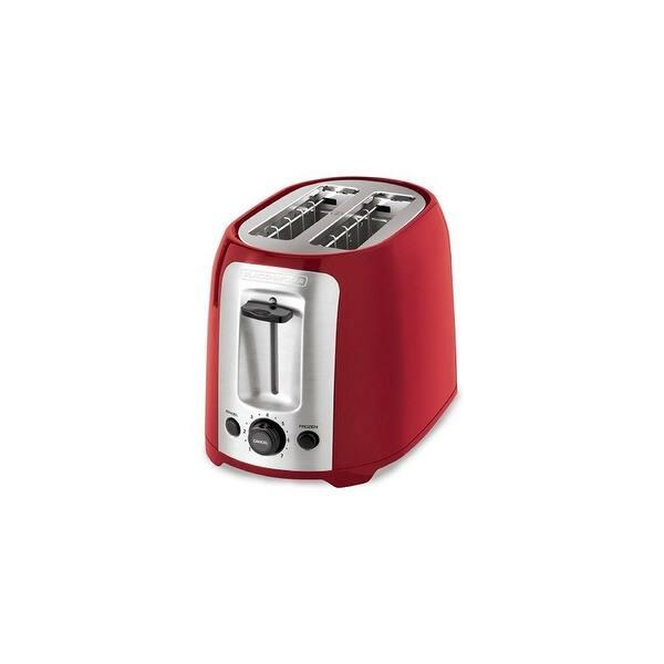 Shop Black Friday Deals On Spectrum Brands Tr1278trm Black Decker 2 Slice Toaster Red Overstock 20344290