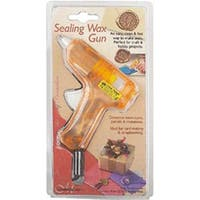 Orange Sealing Wax Gun -Make Seal Accents On Envelopes Parcels Packages Cards