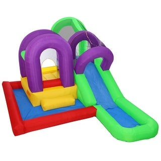 Cloud 9 Wet 'n' Slide Bounce House - Inflatable Bouncer Combo with Wading Splash Pool