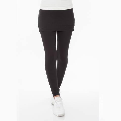 Skirted Leggings - Black