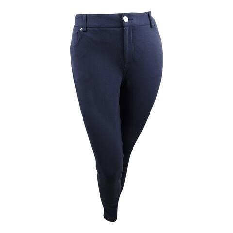 INC International Concepts Women's Skinny Ponte Pants - Deep Twilight