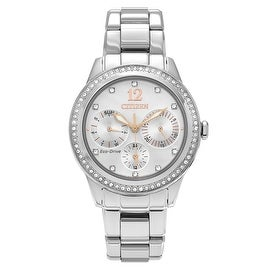 Citizen Women's FD2010-58A 'Eco Drive' Stainless Steel Crystal Chronograph Bracelet Watch
