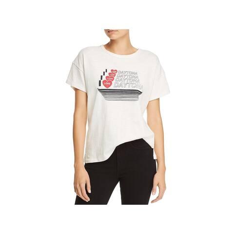 Rag & Bone Womens Daytona T-Shirt Vintage Graphic