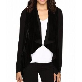 Michael Kors NEW Black Women's Size Large L Velvet Cardigan Sweater