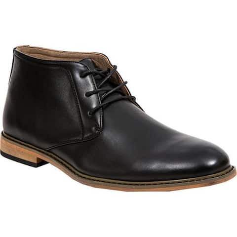 Deer Stags Men's James Chukka Boot Black Simulated Leather
