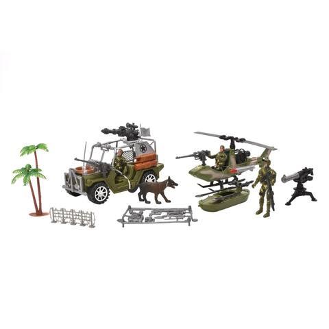 WonderPlay FP Military Car Set - Green