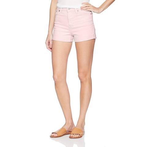 Levi's Women's Wedgie Shorts, Stonewash Light Lilac, 25, Pink, Size 25 (US 0) - 25 (US 0)