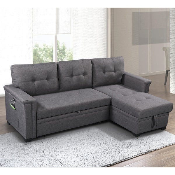 Ashlyn Reversible Sleeper Sofa with Storage Chaise. Opens flyout.