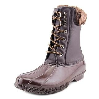 Steve Madden Tstorm Women Round Toe Leather Brown Winter Boot