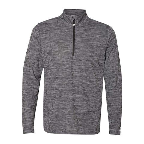 Striated Quarter-Zip Pullover