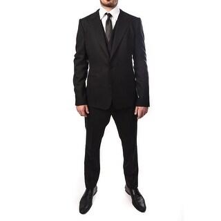 Dolce & Gabbana Men 2-Button Martini 3-Piece Wool Suit Black