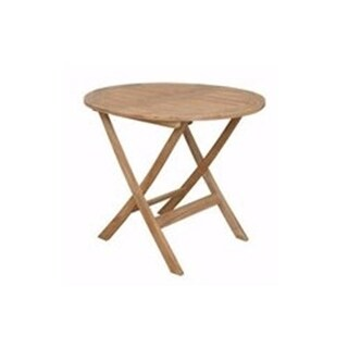 Anderson Teak TBF-8128R Chester 32 in. Round Folding Picnic Table