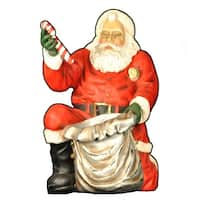 "Christmas at Winterland WL-SANTA-46-KNEE 46"" Life Size Santa Handing Out Candy Indoor / Outdoor - MultiColor - N/A"