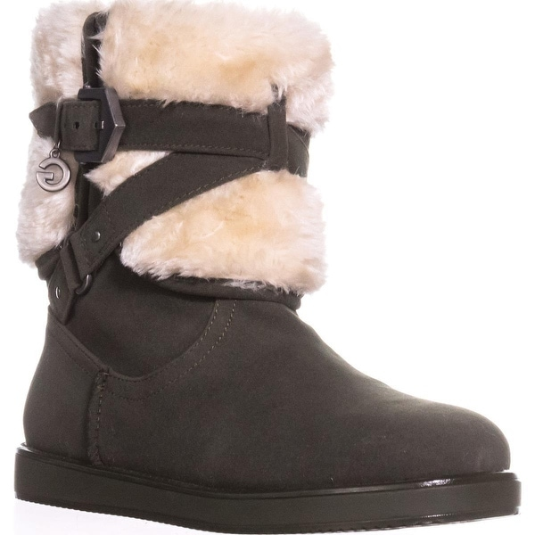 G by GUESS Alixa Fuzzy Lined Pull On Short Winter Boots, Dark Green