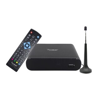 IVIEW-3100STB-A Digital Converter Box w/ Recording & Media Player - Free Antenna Included